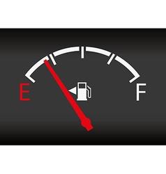 gas gage status vector image