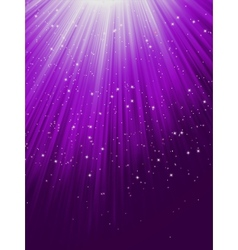 Snow and stars are falling on purple rays eps 8 vector