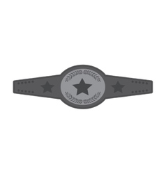boxing championship belt isolated icon vector image