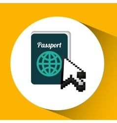 traveling concept technology passport design vector image