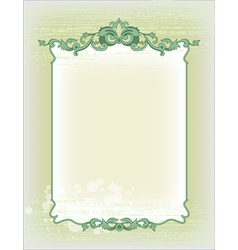 Imperial frame grunge background vector