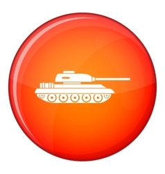 Tank icon flat style vector