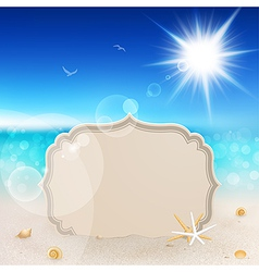 Seascape and tablet vector
