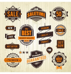 Grunge sale emblems vector image