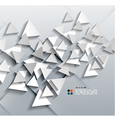 3d paper triangles vector image