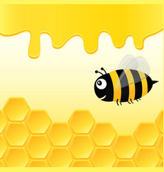 bee in the hive vector image