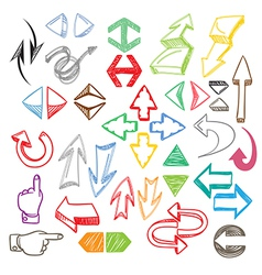 Color arrows collection vector