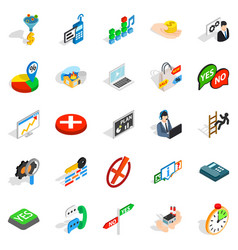 Occupation icons set isometric style vector