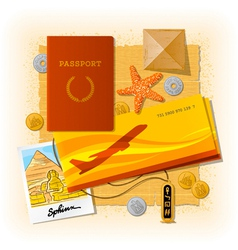Egyptian travel still life vector