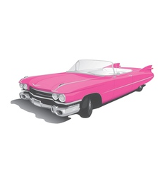 Pink convertible vector