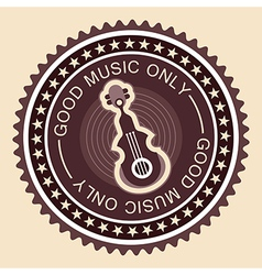 Good music label old fashioned vector