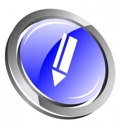 3d pencil icon vector image vector image