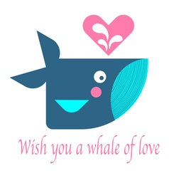 Whale Card 2 vector image