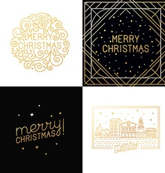 set of christmas greeting cards vector image