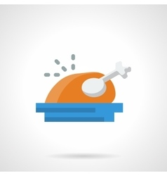 Holiday menu flat color icon vector