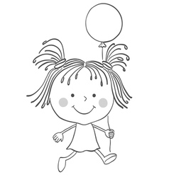 Girl baloon vector