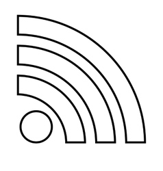Rss sign line icon vector