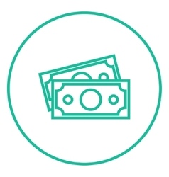 Money banknotes line icon vector