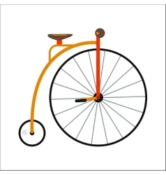 Bicycle flat style isolated on white background vector image vector image
