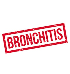 Bronchitis rubber stamp vector image