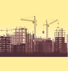 Buildings under construction in process urban vector