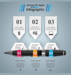 business infographics pen icon vector image vector image