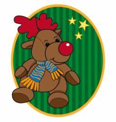 cartoon Christmas reindeer vector image