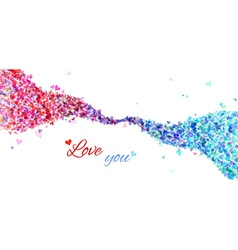 Colourful hearts wave vector