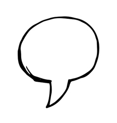 doodle speech bubble vector image vector image