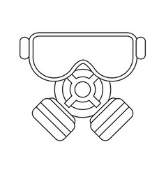 Gas mask icon image vector