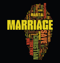 Men save your christian marriage text background vector