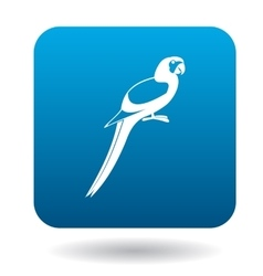 Parrot icon simple style vector image