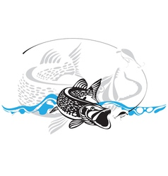 Pike fishing lure vector