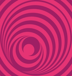 Pink op art circles vector