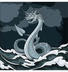 Sea dragon vector