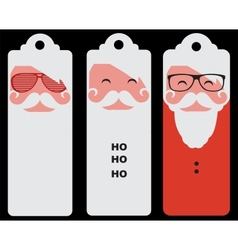 three tags of fashion silhouette hipster style vector image vector image