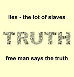 Truth and lie words vector