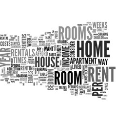Why room rentals text word cloud concept vector