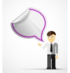 Young businessman with speech bubble vector image vector image