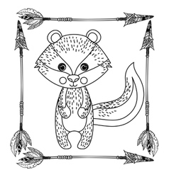 Squirrel animal cartoon design vector