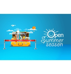 Summer seaside vacation travel vector