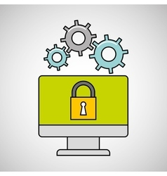 Computer gear secure system vector