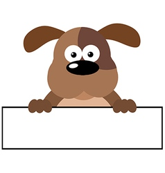 Dog Over A Banner vector image