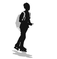 Skater silhouette vector