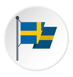 Flag of sweden icon circle vector
