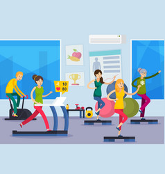 Fitness training people orthogonal composition vector