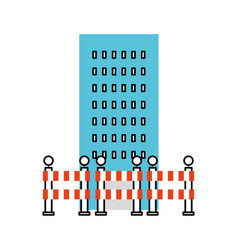 building construction with barriers vector image