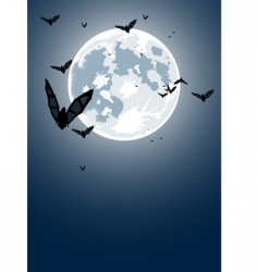 Halloween night with moon vector