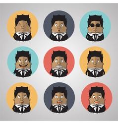 Vintage businessman emotion vector image