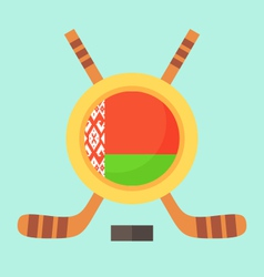 Hockey in belarus vector